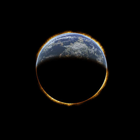 Earth from space on a black background Stock Photo - 4316431