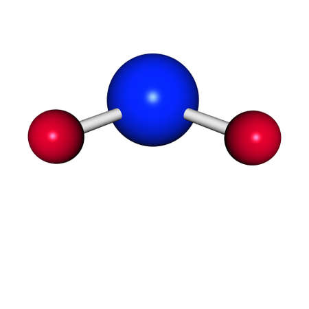 water molecule h2o isolated on a white photo