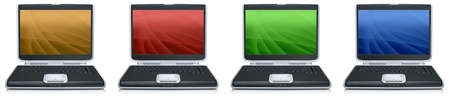 laptop with creative screen on the white background Stock Photo - 4316467