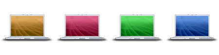 laptop with creative screen on the white background Stock Photo - 4316278