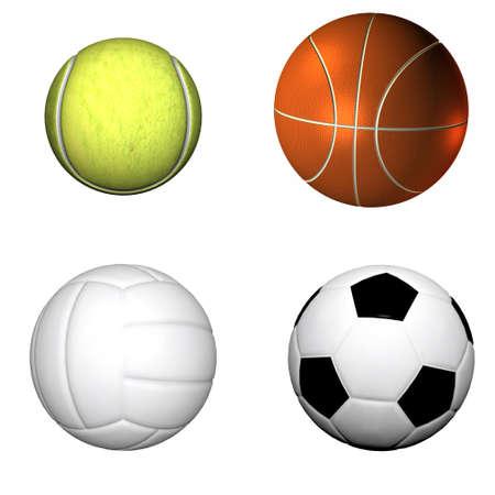 sport soccer ball , basketball, volleyball, tennis Stock Photo - 4316441