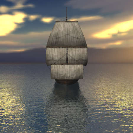 Sailing vessel in the sea Stock Photo - 4316735