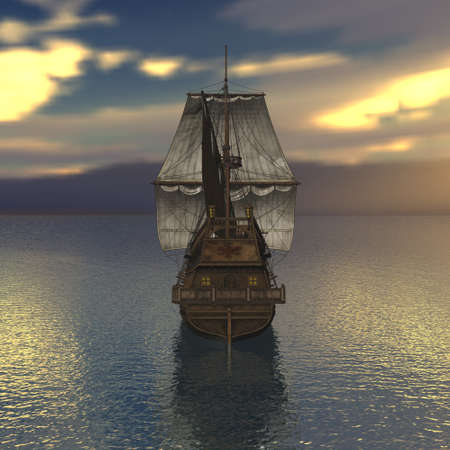 Sailing vessel in the sea Stock Photo - 4316737