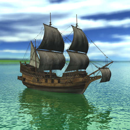 Sailing vessel in the sea Stock Photo - 4316736