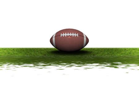 football on the green grass isolated on a white background Stock Photo
