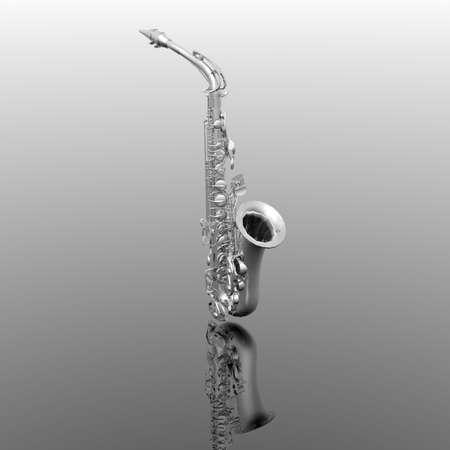 bright saxophone photo