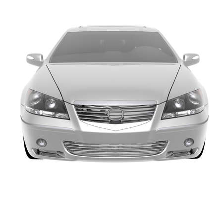luxury expensive car isolated on a white