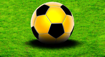 Soccer ball on the green grass Stock Photo - 4493939