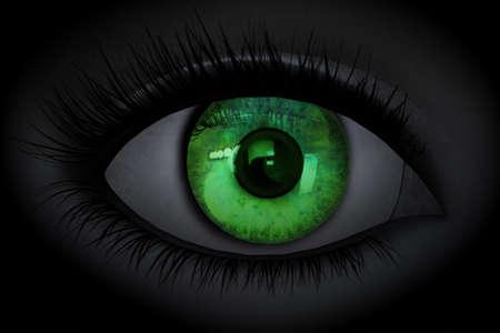 beautiful girl eye in 3D