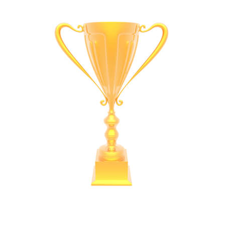 victor: trophy cup isolated on a white background