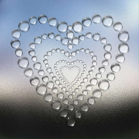 abstract heart water drops creative background photo