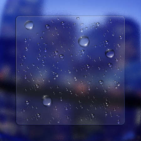 abstract water drops with glass effect Stock Photo