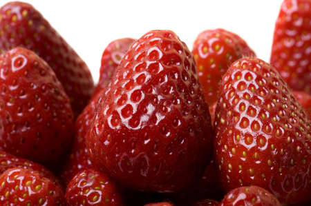 Fresh and tasty strawberries isolated on white a background photo