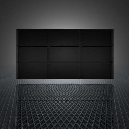 video wall with blank screens in 3d Stock Photo - 4704283