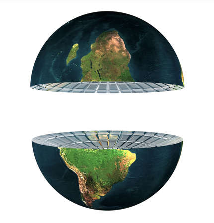 two earth hemisphere isolated on a white Stock Photo - 4704418