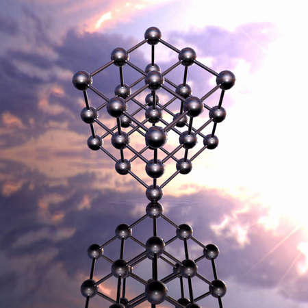 Model of a molecular lattice with reflection Stock Photo - 4756130