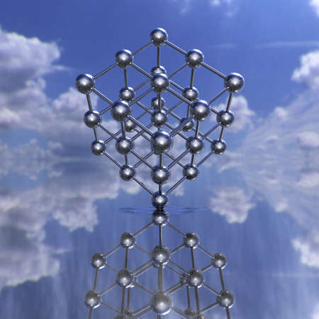 Model of a molecular lattice with reflection Stock Photo - 4756027