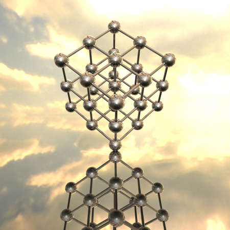 Model of a molecular lattice with reflection Stock Photo - 4756028
