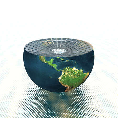 earth hemisphere isolated on a white Stock Photo - 4756085