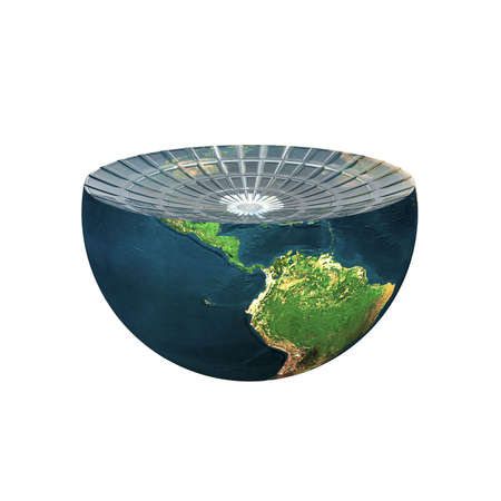 earth hemisphere isolated on a white Stock Photo - 4756094