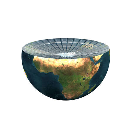 earth hemisphere isolated on a white Stock Photo - 4756088