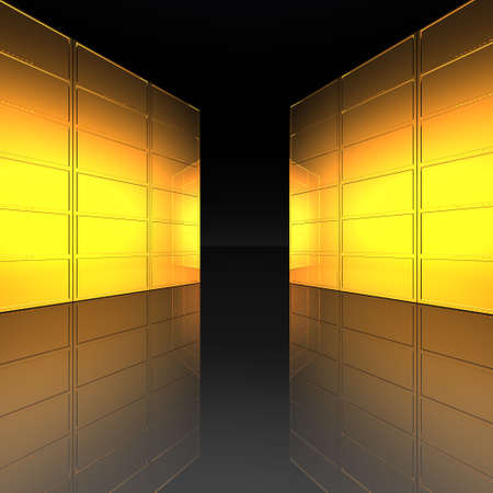 video wall with screens in 3d Stock Photo - 4804508