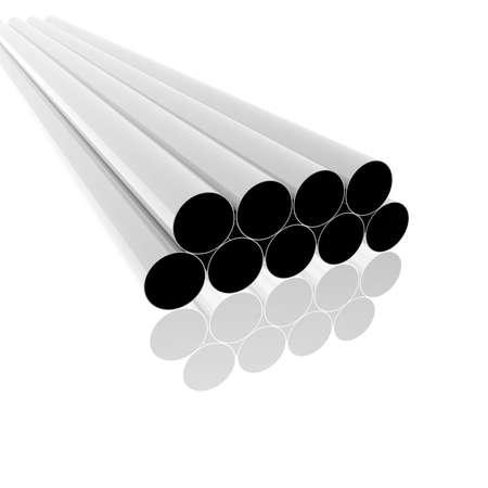 bright metallic tubes Stock Photo - 4865798
