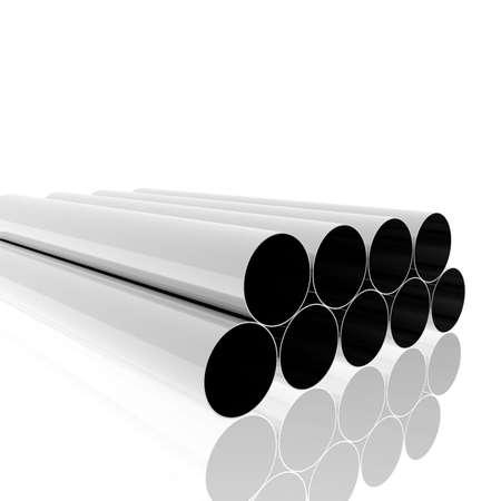 bright metallic tubes
