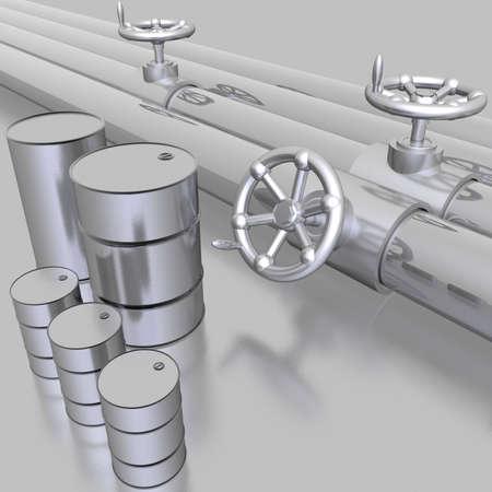crank: bright metallic tubes with hand crank valve
