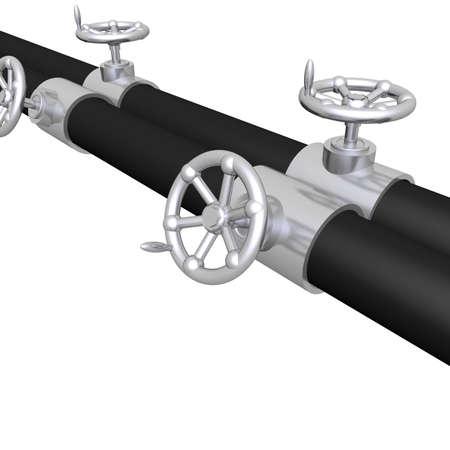 hand crank: tubos met�licos brillantes con manivela v�lvula