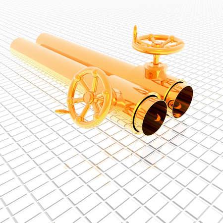crank: tubos met�licos brillantes con manivela v�lvula