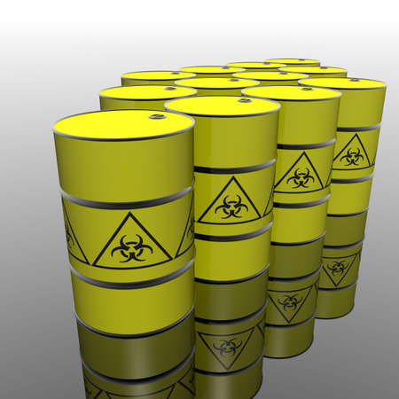 toxic barrel with a biohazard symbol Stock Photo - 4895105