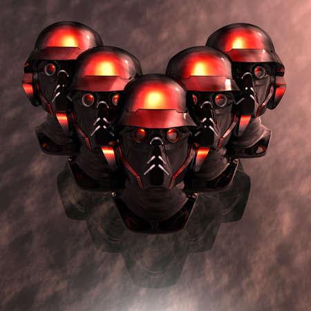 cyborg head, robot photo