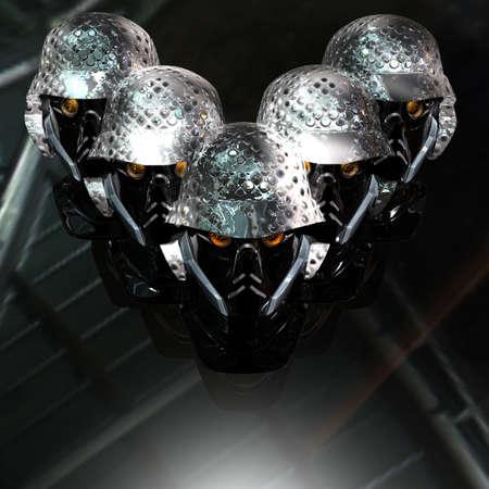 cyborg head, robot Stock Photo - 5081371