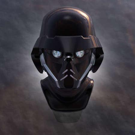 cyborg head, robot Stock Photo - 5081380