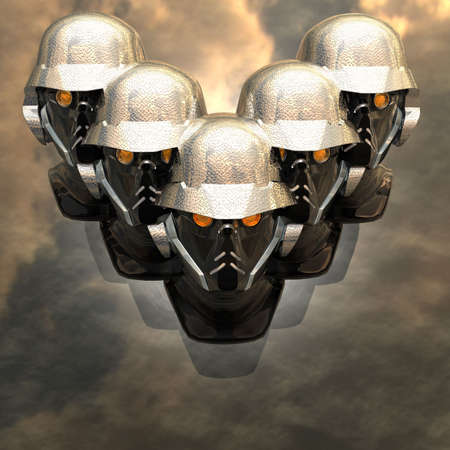 cyborg head, robot Stock Photo - 5081369