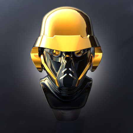 cyborg head, robot Stock Photo - 5081381