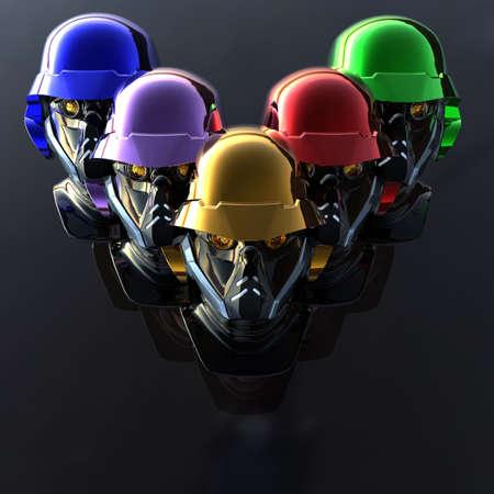 cyborg head, robot Stock Photo - 5081372