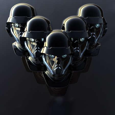 cyborg head, robot Stock Photo - 5081374