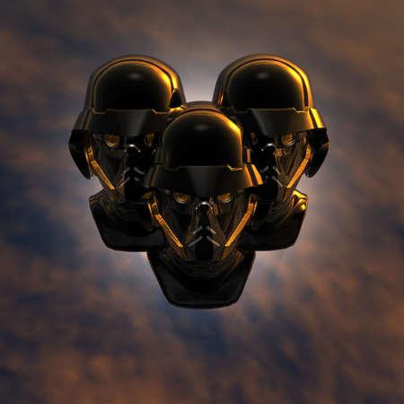 cyborg head, robot Stock Photo - 5081370