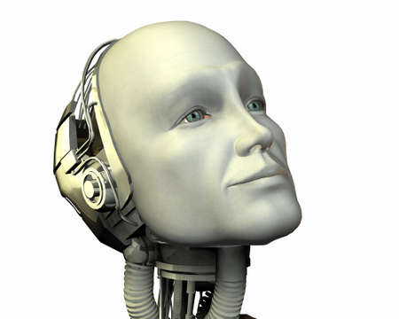 intelligence Android, cybernétiques machine en 3d