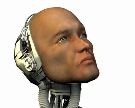 android, cybernetic intelligence machine in 3d Stock Photo - 5943928