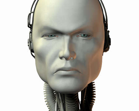 cybernetic: android, cybernetic intelligence machine in 3d
