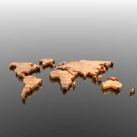 Atlas: bunte Welt geographische Karte silhouette