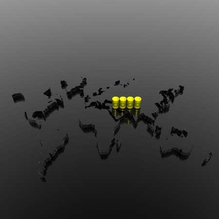 toxic barrel with biohazard symbol in 3d photo