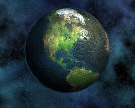 astroimage: earth in space in 3d