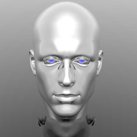 cyber men head with texture Stock Photo - 6306399