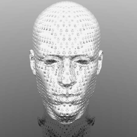 cyber men head with texture Stock Photo - 6306374