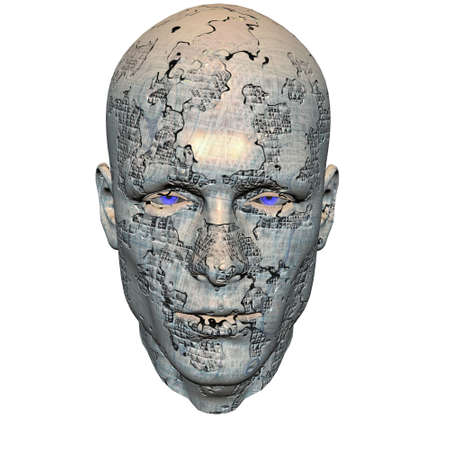 cyber men head with texture Stock Photo - 6306434