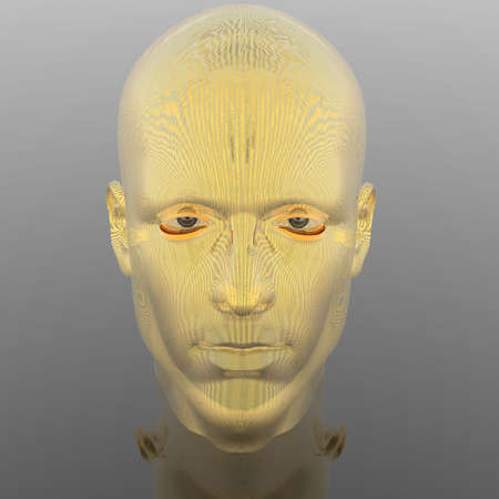 cyber men head with texture Stock Photo - 6306383